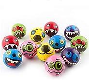 12 قطعة من لعبة كرة نطاطة، مجموعة كرة نطاطة من إكسبريشن مونستر - FER2923