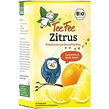 TeeFee Bio Früchtetee Zitrus, 5er Pack (5x20 Teebeutel) | Kindertee | natursüß und vegan | Der Bio Tee für Groß und Klein