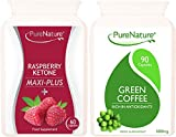 Powerful Raspberry Ketone Maxi Plus Complex & Pure Green Coffee Bean 150 Capsule Combo Maximum Strength Diet Slimming Pills Suitable for Vegetarians FREE UK DELIVERY by Distributed by Be-Beautiful-Online