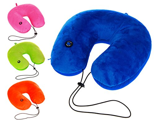 matrasa Nackenkissen mit Massagefunktion - Vibrierende Nackenrolle Neon-Orange (Neon-orange Kissen)
