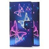 tinxi Kunstleder Tasche für Apple iPod Touch 5G/6G Tasche Schutz Hülle Schale Etui Case Cover Standfunktion mit Karten Slot bunte Schmetterling