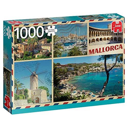 Premium Collection 18836 - Puzzle mit englischen Grüßen aus Mallorca, 1000 Teile