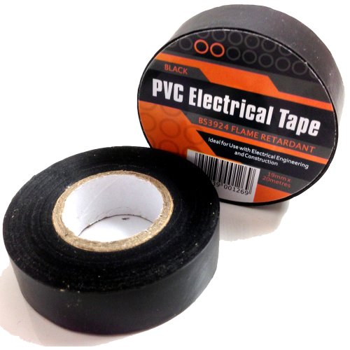 1-x-black-electrical-pvc-insulation-insulating-tape-19mm-x-20m-flame-retardant