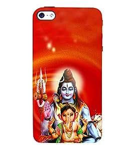 Ganeshvara 3D Hard Polycarbonate Designer Back Case Cover for Apple iPhone SE