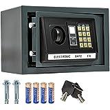 TecTake 800094, TecTake Elektronischer Safe Tresor inklusive 4 Batterien -diverse Modelle- (20x31x22cm)