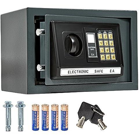 TecTake - Caja fuerte electrónica (capacidad de 20 l, 20 x 31 x 20 cm, incluye 4 pilas), color