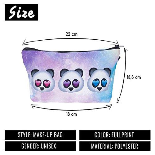 Kukubird Divertimento Nuovo Animale Foto Modello Stampa Make-up Bag Con Sacchetto Di Polvere Di Kukubird Emoji Panda Galaxy