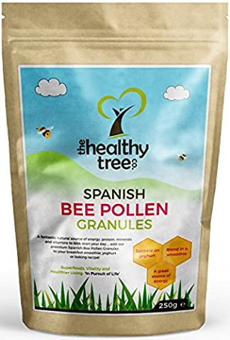 Gold Standard Spanish Bee Pollen - High in Vitamins C, B1, B2, B3, Iron, Zinc and Magnesium - Highest Quality Pure Bee Pollen Granules by TheHealthyTree Company