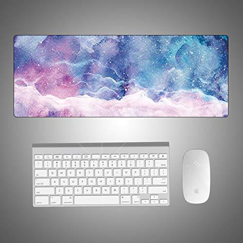 Kreative Marmormausunterlage bunter kühler sternenklarer Himmel des Computertischauflagen-Mausunterlagen-super großen Karikaturfragmentbüros -