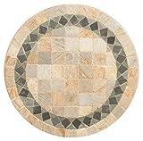 Piano rotondo per tavolo in pietra naturale a mosaico diam.60xH3 cm
