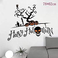 Xue Halloween-Tapeten, Kreativer, Schwarzer Schädelkopf, Wohnzimmer Schlafzimmer, Wanddecal, Wandbild, Aufkleber, Kunst Dekor, Selbstklebendes Papier