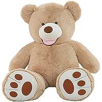 VERCART Teddy Bear Nounours en Peluche Géant Ours Peluches et Doudous Jouet au Premier Age Cadeau