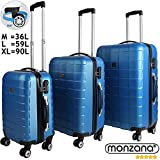 Hardshell Luggage Suitcase Lightweight Travel Baggage 3 Pieces 4 Wheeled Spinner Roller Black