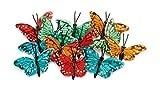VBS 12er-Set Feder-Schmetterlinge ca. 5 cm Dekoration Garten Basteln