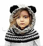 Sumolux Bonnet de Laine Tricote Renard Ensemble Bonnet Echarpe Hiver Pour Enfant Unisexe