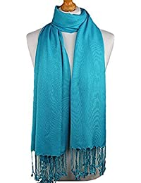 World Of Shawls Plain Pashmina Scarf Hijab Shawl Stole Wrap High Quality 100% Viscose Factory Seconds