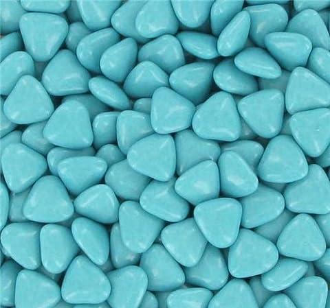 Boite 250 gr Minis Coeurs Dragées Chocolat - Couleur Turquoise
