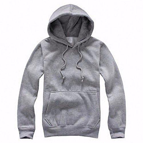 Kostüm Matrix Mädchen (hoodies, baumwolle und kaschmir - pullover, hoody, einfarbig,Grau,L)