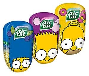 tic tac Maxi Pack Simpsons Ciambella, Bubble Gum e Blueberry - 98g [confezione da 3]