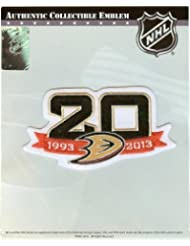 2013 - 2014 Anaheim Ducks Team 20th Anniversary NHL Season Logo Jersey Patch by Patch Collection