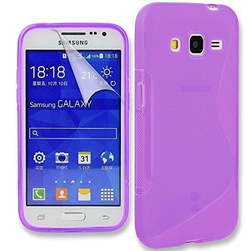 Connect Zone Samsung Galaxy Ace 4 (G357) S Ligne Silicone Gel Étui + Protection écran Guard And Chiffon De Polissage