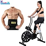 body gym Exercise Cycle 201 for Weight Loss with Sweat Belt for Stomach Exercise| FitnessBike with Abdominal Exerciser| By KS Healthcare(S-1BG-201-S)