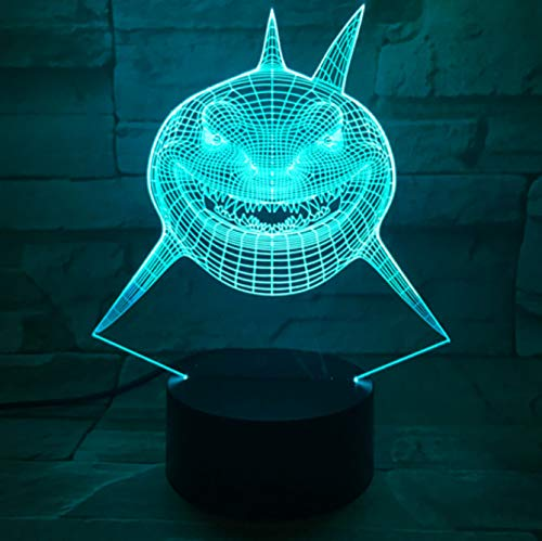 k Halloween Gift 3D Night Light 7 Colors Changing LED Desk Table Lamp Acrylic Panel Stereo Illusion Lava Lamp ()