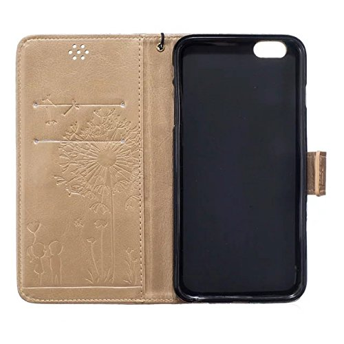 meision iPhone 6plus iPhone 6splus Étui en cuir Coque protective-taken Étui portefeuille iPhone 6plus
