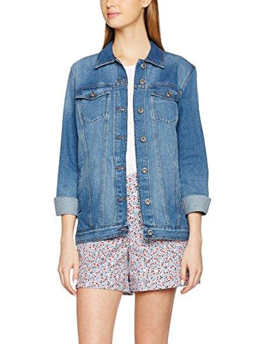 ONLY Damen Jacke Onleva Oversized Dnm Jacket Akm Noos, Blau (Medium Blue Denim Medium Blue Denim), 40