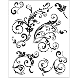 Viva Decor D7 Silicone Stamp, Floral Embellishments
