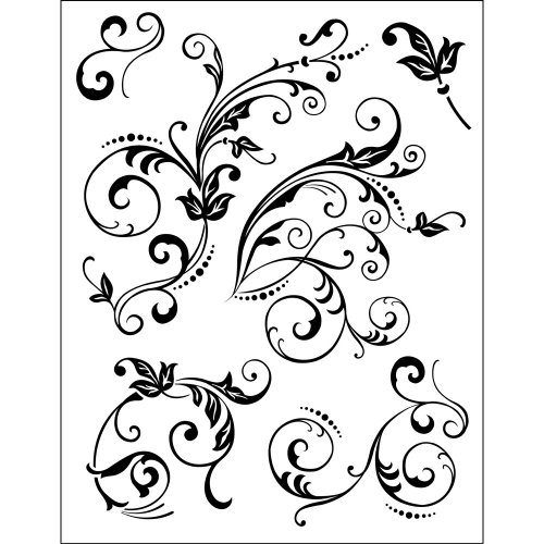 viva-decor-14-x-18-cm-silicone-stamps-floral-embellishments-1-sheet