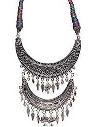 Aamoddhini Party Wear Western Fancy Designer Necklace Set For Women And Girls LN-77