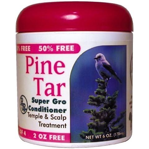 BB Pine Tar Super Gro Hair & Scalp Bonus 180 ml (Pack of 6) by Bronner Brothers