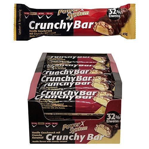 Power System Crunchy Bar - Protein Riegel 21 x 45 g (Vanille)