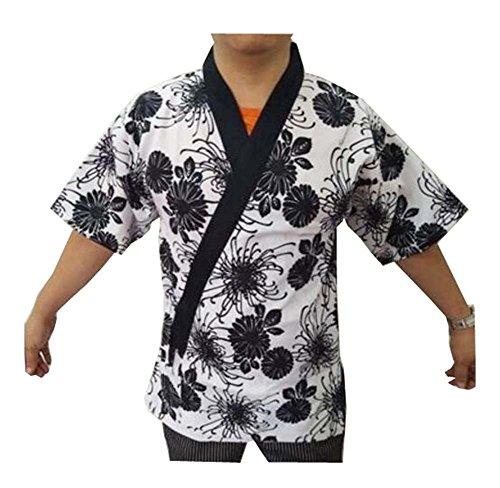Kostüm Sushi Frauen - Restaurant Uniform - Japanische Sushi Koch Mantel Uniformen für Männer und Frauen - A5