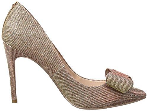 Ted Baker Azeline Texte Af Rose Or, Fermé Toe Heel Chaussures Femme Or (or Rose)