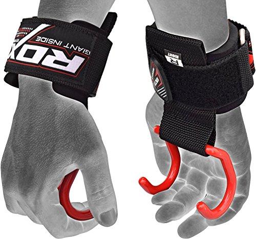 RDX Palestra Fitness Gancio Cinghie Sollevamento Pesi Fasce Supporto Polso Peso Bodybuilding