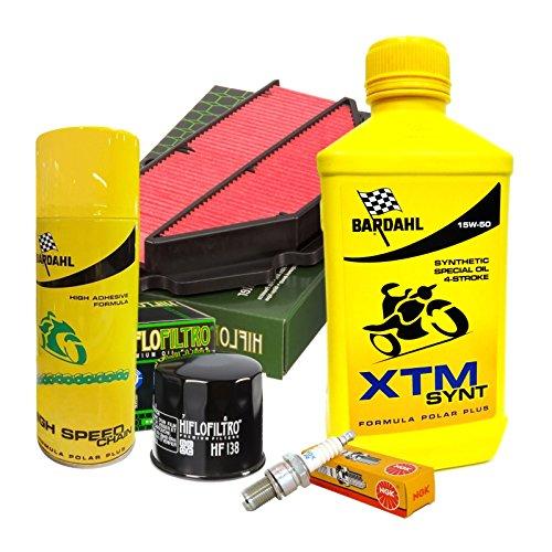Tagliando Bardahl XTM 15W50 filtro olio aria...