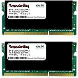 Komputerbay Arbeitsspeicher, 16 GB (2 x 8 GB 204 Pin DDR3 SO-DIMM 1600MHz PC 3-12800 Notebook-Speicher mit Hitzeverteilern), Schwarz