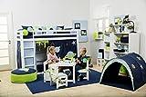 Hoppekids Tunnel/Höhle Space für Hochbett, Halbhochbett, Spielbett Breite 90 cm, Textil, blau, 90 x 73 x 102 cm - 5