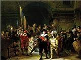 Poster 130 x 100 cm: Die Nachtwache von Rembrandt Van Rijn - Hochwertiger Kunstdruck, Neues Kunstposter