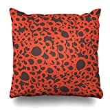 Monicago Zierkissenbezüge, Brush Brown Artistic Random Sloppy Circles Abstract Drawn Orange Creative Doodle Dots Design Pillowcase Square Size 18 x 18 Inches Zippered Home Decor Cushion Case