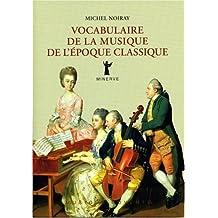 Vocabulaire de la musique de l'époque classique