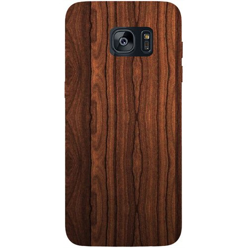 Casotec Wooden Texture Design Hard Back Case Cover for Samsung Galaxy S7