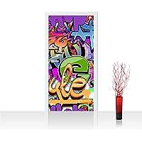 Liwwing TTVLPP-0221-100X211 - Paño grueso y suave del papel pintado de la puerta 100 x 211 cm - cima! fondos de escritorios prima más la puerta! carteles de puertas xxl paneles de las puertas imagen de fotos de la puerta del papel pintado folie carteles papel mural de graffiti streetart deco vivero - sin 221o