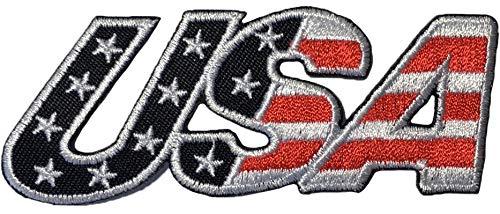 Kostüm Flügel Engel Todes - Ranger Return USA American Alphabet US Flagge zum Aufnähen zum Aufbügeln Bestickt Emblem Abzeichen Schwarz (Iron - USA Alphabet Schwarz)