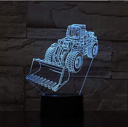 Optische Täuschung Folie Nachtlicht Gabelstapler Führte Dekoration 3D 7 Farbwechsel Kinder Baby Geschenke Tischlampe Schlafzimmer Dekor