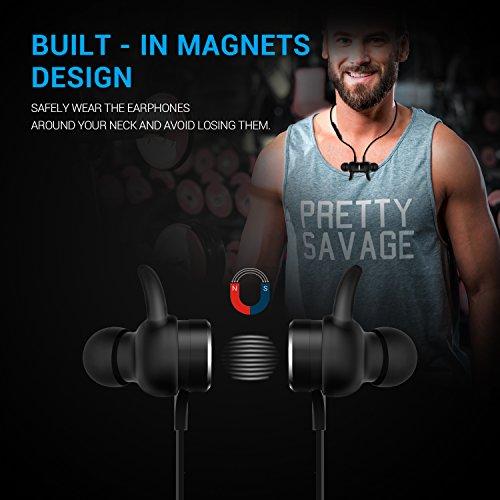 Bluetooth Kopfhörer, MixcMax IPX5 Wasserdichte In Ear Wireless Ohrhörer mit Magnetischer Verbindung, Sport Kopfhörer Eingebautem Mic, HiFi Sound, Noise Cancelling für iPhone, iPad, Android, Tablets, Laptop - Bild 5