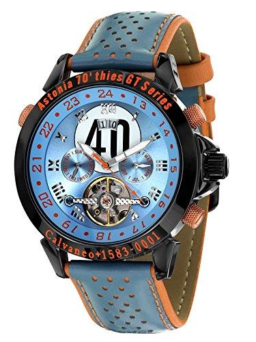Calvaneo 107629 - Reloj, correa de cuero color azul