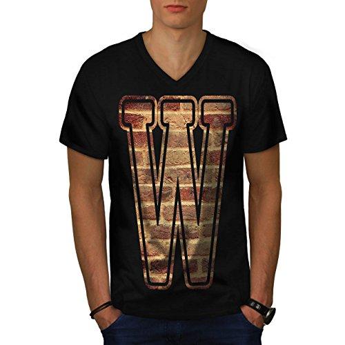 Rock Star Grunge Kostüm (Brief W Mauer Kunst Mode Grunge Modus Herren M V-Ausschnitt T-shirt |)
